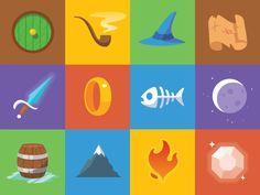 Hobbit Icons by Gregory Hartman, via Dribbble
