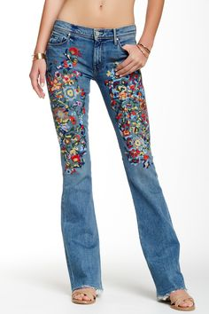 "u really could time travel in these embroidered lovelies! ""The Cruiser Tripping Through Time""  MOTHER reg. $330 