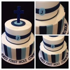 First Holy Communion Cake for a boy made by @sweetsbysuzie Melbourne