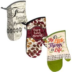 Home Collection Sentiments Oven Mitts, 13 in.