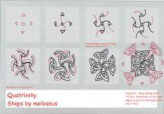 Life Imitates Doodles: My tangle pattern: Quatrinity