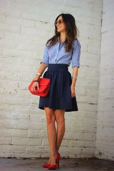 blue, navy and red.. the best color combination