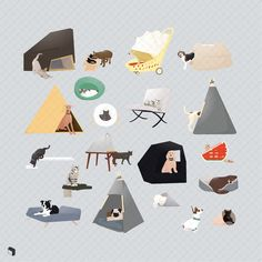 Visit Toffu for architectural presentation resources @toffuco #toffu #toffu.co #flatvector #axonometric #cad #dwg #flaticon #architecture #architecturalpresentation #architecturaldiagram #architecturalresources Ceiling Curtains, Animal Silhouette, Architectural Presentation, Dog Illustration, Dog Cat, Diagram, Collage, Texture, Architecture