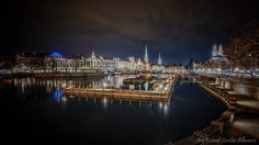 Photograph Zürich City Night Scape III by Roland Albanese on 500px