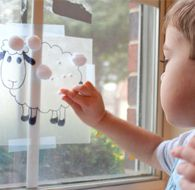 One for the sheep lovers out there! Sticky Sheep Sensory Activity for tots. Guaranteed to elicit giggles and perfect for Easter or Spring! Spring Activities, Sensory Activities, Craft Activities For Kids, Motor Activities, Toddler Activities, Crafts For Kids, Sensory Play, Toddler Fun, Toddler Crafts