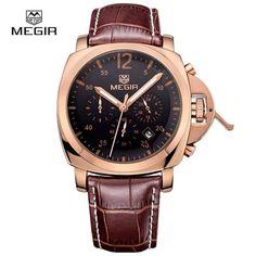 MEGIR Watch Chronograph Luminous Quartz