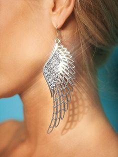 Angel Wing Earrings from Frederick's of Hollywood <3