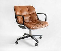 Vintage Knoll Pollock Executive Armchair - Chair, Mid Century, Modern, Eames, Office.  via Etsy.