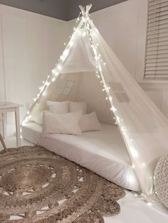 Play tent canopy bed in natural canvas - twin Tent canopy bed in natural canvas from . - Play tent canopy bed in natural canvas – twin tent canopy bed in natural canvas by DomesticObject - Dream Rooms, Dream Bedroom, Canopy Tent, Bed Canopies, Kids Bed Canopy, Canopy Over Bed, Bed Curtains, Teepee Bed, Bed Canopy Lights