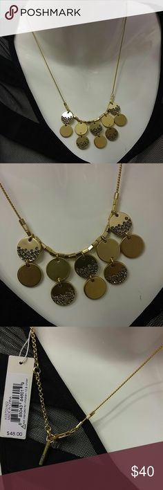 Kenneth Cole Necklace This beautiful necklace comes gold plated nicley accented with a few stones embedded in the shaped pendants. Some much chic in this fab necklace Kenneth Cole Jewelry Necklaces