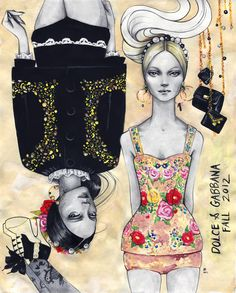 Joshua's vision on Dolce & Gabbana F/W 2012 collection. Swide.Archives: Joshua David McKenney | Draw A Dot.