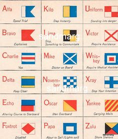 Nautical Flag Poster - this also inspired a bevy of craft ideas using nautical signals