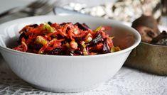 Fokhagymás-gyömbéres saláta céklával, répával, zellerrel