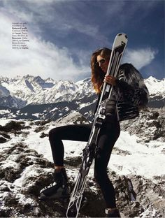 slalom de estilo: nadejda savcova by xavi gordo for elle spain january 2014 | visual optimism; fashion editorials, shows, campaigns & more!