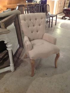 The Miami Chair from Cornerstone Home Interiors offers a classic aesthetic with a modern twist. $425.00 www.cornerstonefurniture.ca