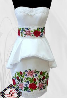 модель 045 Polish Embroidery, Mexican Dresses, Dad Birthday, Dressmaking, Dress Patterns, Passion For Fashion, Bridal Shower, Party Dress, Gowns