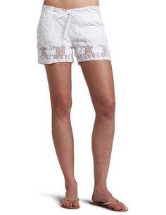 Monrow Women's Crochet Shorts