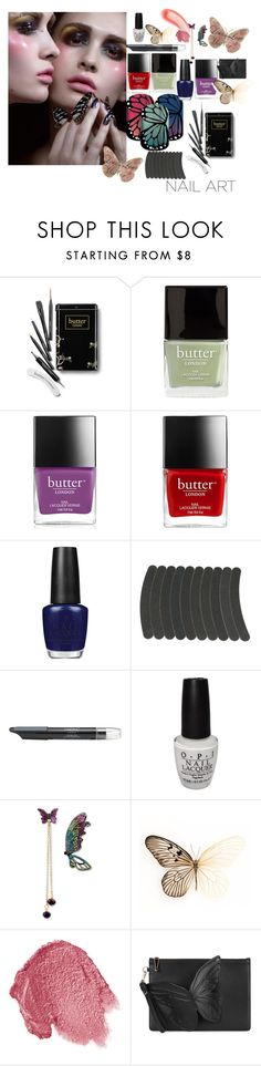 """""""Butterfly queen"""" by alisafranklin on Polyvore featuring Butter London, OPI, Nails Inc., Betsey Johnson, Lipstick Queen, Sophia Webster and Ilia"""
