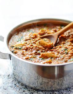 Lentil Stew with Dumplings - kitchennostalgia.com