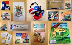 Happy Saturday! Today's culture kit of the day is Puerto Rico! This kit includes coffee packages and sugar, a DVD of a movie about a young boy and girl, flags, magazines and newspapers, Families of Puerto Rico DVD, maps, a documentary, books, mini boxing gloves, dominoes, maracas, a Puerto Rico CD, currency, stickers, a license plate cover, and a coat of arms sticker…