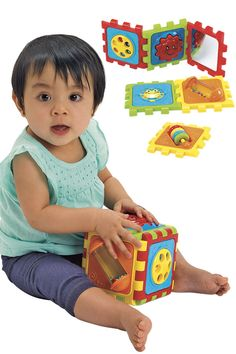 Pull it apart, and then put it back together! This cube is simple for infants to manipulate. Stem Curriculum, Discovery Toys, Gross Motor Skills, Infants, Fine Motor, Cube, Classroom, Activities, Simple