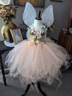 me ~ Peach Earth Fairy costume dress, romantic spring flower fairy dress, whimsical fairy costume, fairy birthday dress, fairy festival dress Fairy Costume Kids, Fairy Princess Costume, Fairy Halloween Costumes, Kids Butterfly Costume, Princess Tutu, Fairy Tea Parties, Fairy Birthday Party, Fairy Clothes, Butterfly Birthday