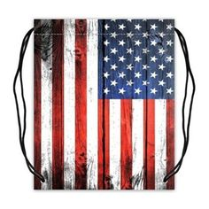 Custom American Flag Basketball Drawstring Bags Backpacks Polyester Fabric Travel Backpack(Twin Sides) -- Awesome products selected by Anna Churchill