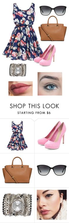 """evans. l."" by maya-imane26 ❤ liked on Polyvore featuring MICHAEL Michael Kors, Bulgari and Sara Designs"