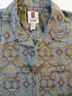 Tori Richard Shirt, Hawaiian Shirt, Blue Tiki Print, Honolulu USA, Cotton Lawn Fabric Tropical Aloha Shirt Size XL Unworn, Hawaiian Casuals by TomCatBazaar on Etsy