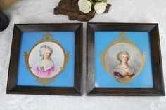 PAIR 19thc French Antique framed Pottery Tiles sevres decor aristocratic ladies  | Pottery & Glass, Pottery & China, Art Pottery | eBay!