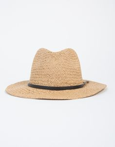 Top off your summer look with this Structured Straw Hat. This straw hat  features a fa8d083ed917
