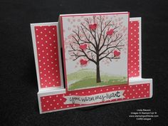 Spring Center Step Card Linda Bauwin - CARD-iologist Helping you create cards from the heart.