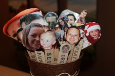 Prayer Sticks - Popsicle stick with picture of family member or friend.  Each day have child draw a name and pray for that person.