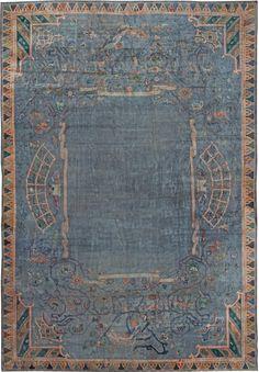 Vintage Chinese Art Deco Rug 44917 http://nazmiyalantiquerugs.com/antique-rugs/1941-present/vintage-indian-art-deco-rug-44917/