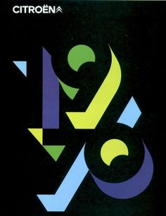 Citroen Poster (1976) — Designer Unknown. Saw this and thought of Ween. Freedom of 76.