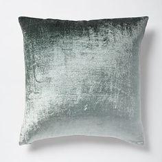 Teal Turquoise Blue Ombre Velvet Pillow Cover - Blue Stone @ WestElm $40