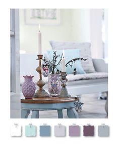 gray, purple, and blue color palette