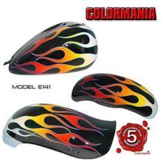 Hot Rod Flames | Custom Flame Paint Jobs Motorcycle Custom paint job on your