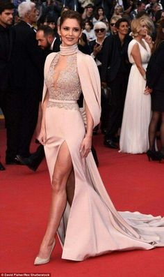 Cheryl Fernandez-Versini in Ralph & Russo at the ‪#‎premiere‬ of Irrational Man (film) at ‪#‎Cannes2015‬