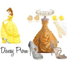 Disney Prom - Belle, created by jackik18 on Polyvore