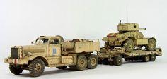 Diamond Tank Transporter w/ Daimler Armoured Car.