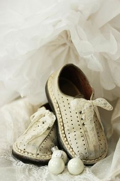 vintage baby shoes...