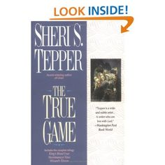 True Game Series. Sheri S. Tepper. This book contains the first triology of the nine book series. Here are the titles of ALL 9 books. Well worth searching them all out. Brilliant series! 1. Kings Blood Four(1983) 2. Necromancer Nine (1983) 3. Wizard's Eleven (1984) 4. The Song of Mavin Manyshaped (1985) 5. The Flight of Mavin Manyshaped (1985) 6. The Search of Mavin Manyshaped (1985) 7. Jinian Footseer (1985) 8. Dervish Daughter (1986) 9. Jinian Stareye (1986).