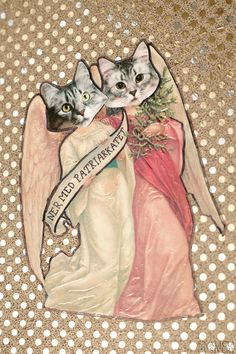 """""""Ner med patriarkatet"""" (""""Down with the patriarchy"""") cat collage by Alicia Sivertsson, 2015."""