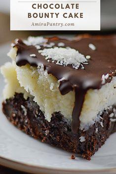 No Bake Desserts, Just Desserts, Delicious Desserts, Dessert Recipes, Easy Cake Recipes, Yummy Food, Chocolate Desserts, Chocolate Cake, Brownie Cake