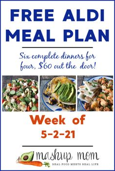 How is it Wednesday again already? How is it almost MAY, already? Let's keep these meal plans coming nonetheless: Here's your free ALDI Meal Plan for the week of 5/2/21: Six complete dinners for four, $60 out the door! This week, we'll be cooking up everything from a hearty vegetarian elote casserole to a chopped chicken, tomato, & avocado salad -- and, so much more. Aldi Meal Plan, Real Food Recipes, Healthy Recipes, How To Plan, Dinner, Aldi Shopping List, Meal Planning Board, Tortilla Casserole, Fajita Bowls