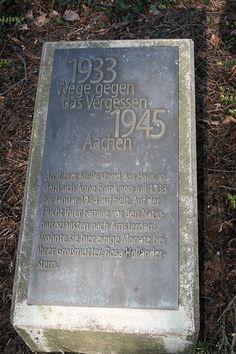 Anne Frank memorial Aachen - Anne Frank - Wikipedia