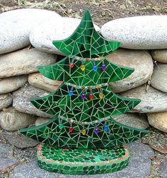 Christmas Tree Mosaic 1 by siriusmosaics, via Flickr