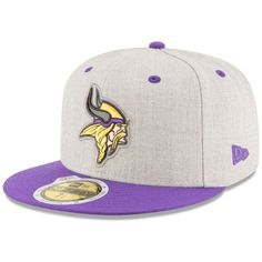 New Era Minnesota Vikings Total Reflective 59FIFTY Cap ($36) ❤ liked on Polyvore featuring men's fashion, men's accessories, men's hats and mens caps and hats