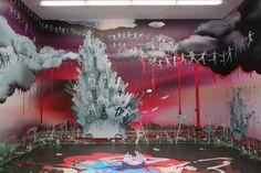 Chiho Aoshima, Installation view, Asleep, dreaming of reptilian glory, 2005 Blum & Poe, Los Angeles, CA 2005 Chiho Aoshima/Kaikai Kiki Co., Ltd. All Rights Reserved